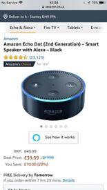 Amazon echo dot + leather case