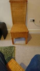 4 Wicker/cane Dining Chairs