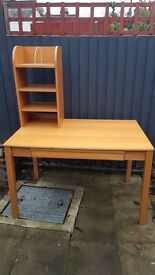 Good Quality Wooden Desk with Shelving Unit
