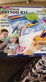 Kids airbrush tattoo kit