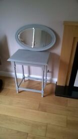 Painted Furniture, Pretty Hall Table & Mirror Set