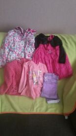 Bundle of clothes for a girl