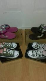 Girls converse and real ugg boots.size 9.