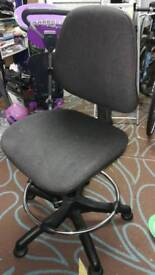 Adjustable office chair with foot rail