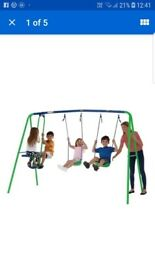 2 swing and seesaw set