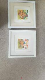 Framed nursery pictures