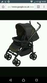 3D jewel, limited edition, silver cross pushchair/pram.