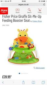 Fisher Price Giraffe sit me up booster seat
