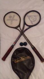 2 Squash racquets & Balls. Bargain £20