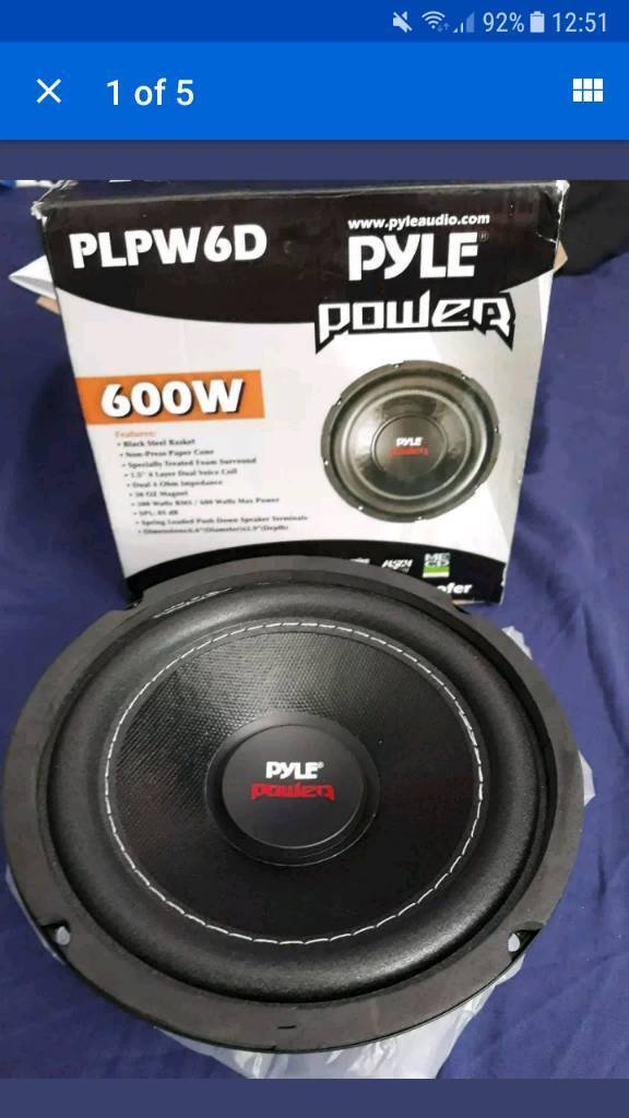 pyle power mini subwoofers sub loud power bass kick woofers speakers