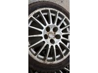 wheels & tyres 4 alloy wheels whith good tread in need of a good clean up