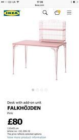 IKEA pink desk