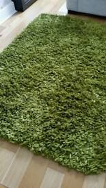 Quality large green rug by Maison Dumroo