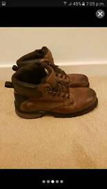 Steel toed Dickie boots size 11