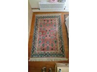 Attractive, authenticated wool carpet - 120cms x 176 cms