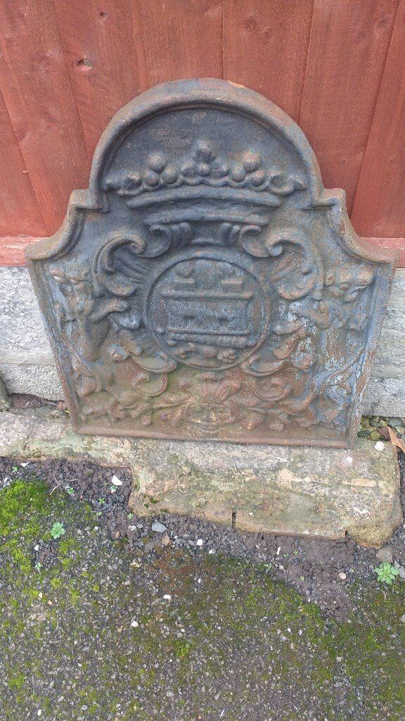 french cast iron fire back
