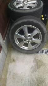 Toyota alloys with Yokohama tyres 215/60/R17
