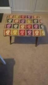 Stamp fabric design stool