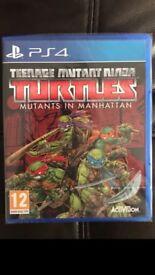 *PRISTINE CONDITION* Teenage Mutant Ninja Turtles: Mutants in Manhattan PlayStation 4 Game