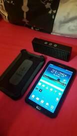 Samsung galaxy tab 3 8g with titanium jam speaker