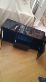 High hloss black tv unit £125