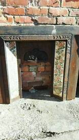 Cast iron antique fireplace