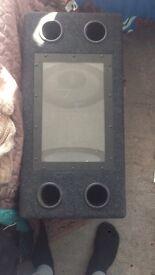In-car speaker box