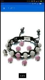 Shimla Brand New Interchangeable White & Pink Beads Bracelet