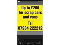 Huddersfield scrap vehicles bought