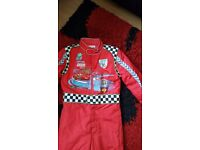 cars dress up jumpsuit 7-8 years