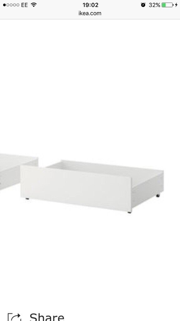 Ikea malm under bed storage drawer