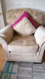 Sofa and x2 chairs