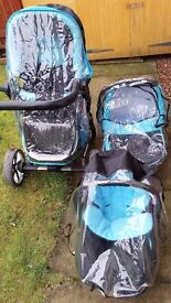 3 in 1 travel system with accessories