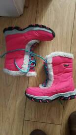 Girls waterproof boots size 1