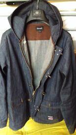 Denim Hooded jacket / coat by Diamond Supply, Brand New. STYLISH. SIZE LARGE. TRENDY