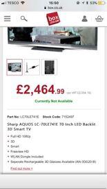 70 inch 3D Sharp TV