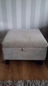 Fabric Storage Footstool