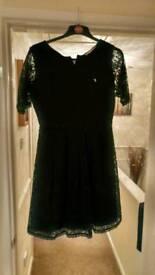 Yumi Size 14 Black Lace Dress