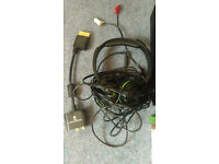 Xbox one, plus 6 games 1 unopened, turtle beach lxa head and control pad with headset adapter