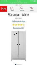 Collection Mia 2 Door Wardrobe - White