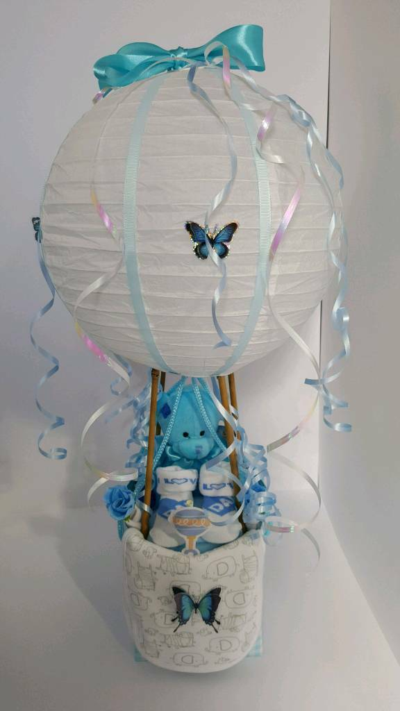Hot Air Balloon Nappy Cake Expectant New Mums Baby