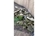 Yorkshire stone, free, ideal rockery ect