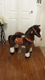 Kids ride on horse