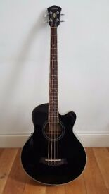BASS GUITAR Acoustic Ibanez AEB8E black BRAND NEW with 5 year + warranty, London collection