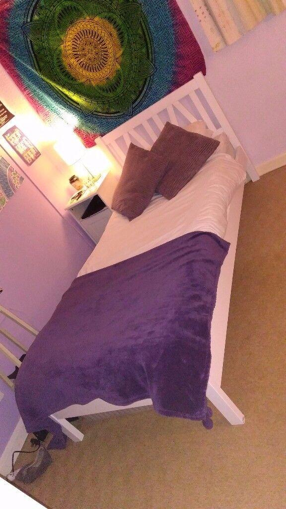 Wooden Frame Single Bed (Frame Only)