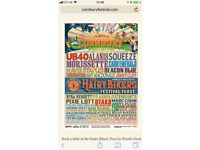 Cornbury VIP Family Weekend Camping Tickets x 2 £250