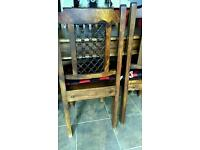 Table and chairs - Indian teak