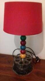 Pool Ball Table Lamp Red - Brand New