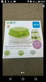 Brand new MAM Microwave Steam Steriliser