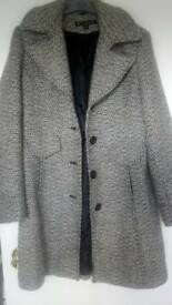 Wool Grey mix Coat fully lined .